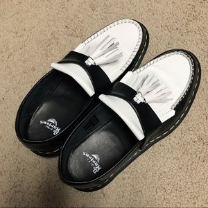 Dr. Martens Adrian Black & White Loafers